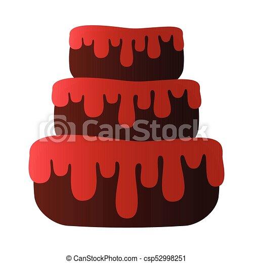 Isolated birthday cake - csp52998251