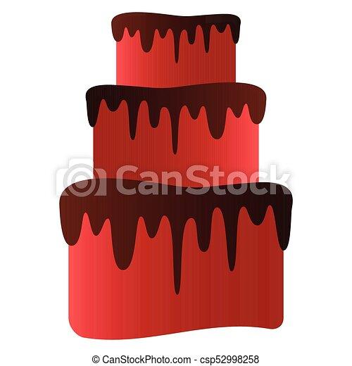 Isolated birthday cake - csp52998258