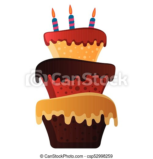 Isolated birthday cake - csp52998259