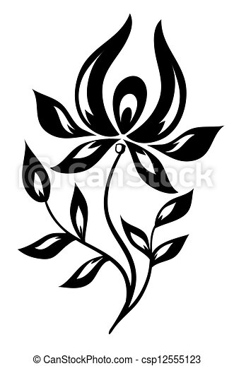Isolated black and white flower vector illustration search clipart isolated black and white flower csp12555123 mightylinksfo