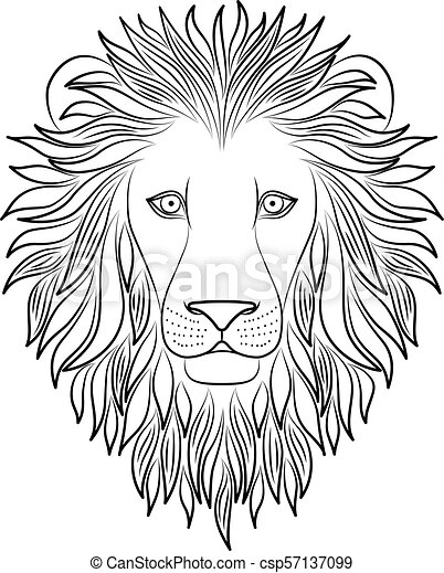 Lion Outline Cartoon Images : Sei fortunato, le hai trovate.