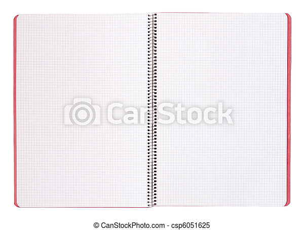 Isolated blank notebook - csp6051625