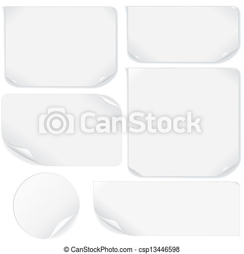 Isolated Blank Paper Sheet. Vector Pack - csp13446598