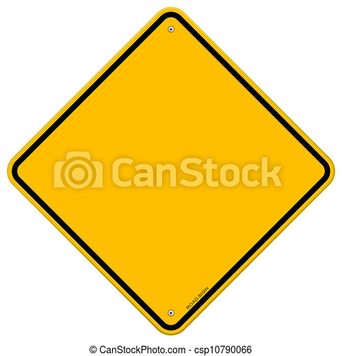 Isolated Blank Yellow Sign - csp10790066