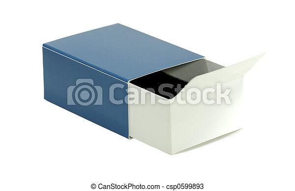 Isolated Blue Box - csp0599893
