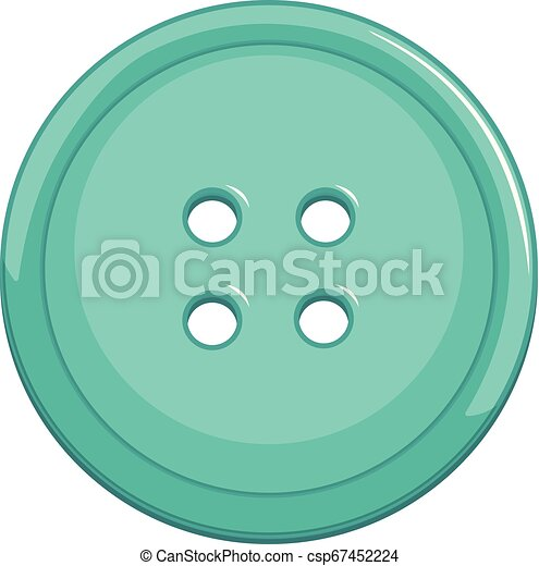 Isolated blue button on white background - csp67452224