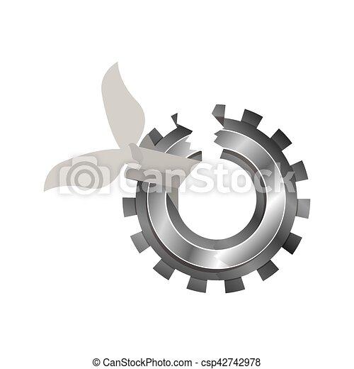 Isolated broken gear design. Broken gear icon. cog wheel ...