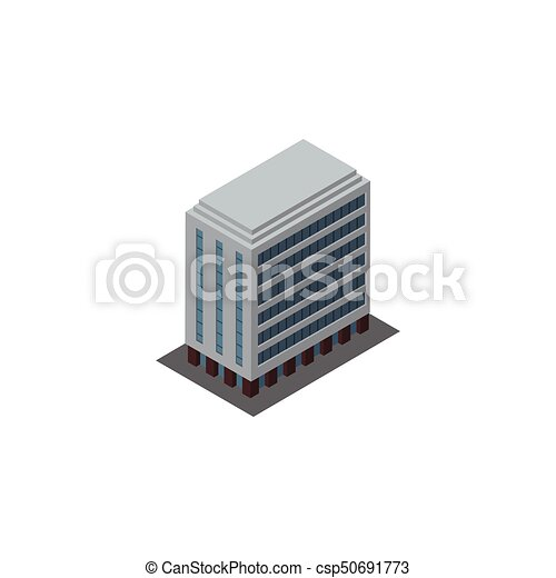 isolated building isometric office vector element can be used for