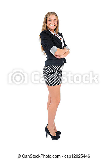 Isolated business woman - csp12025446