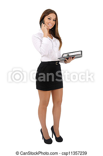 Isolated business woman - csp11357239