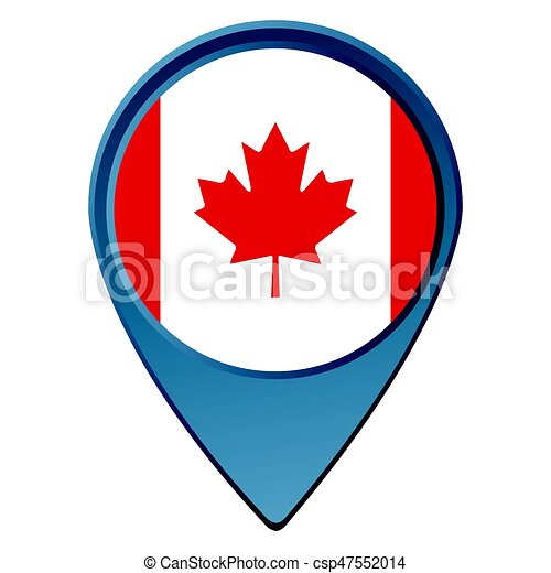 isolated canadian flag on a map pin vector illustration vector clip rh canstockphoto com canadian flag vector art canadian flag vector free