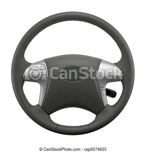 Isolated Car Steering Wheel - csp5074633