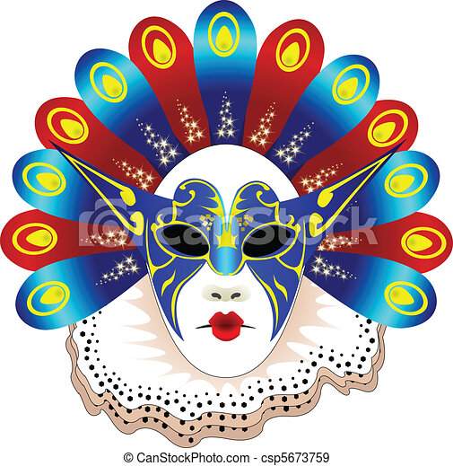 Isolated carnival  mask - csp5673759