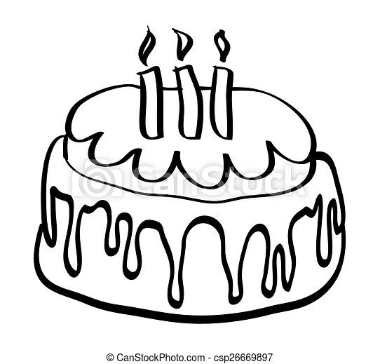 isolated cartoon birthday cake vector illustration on white eps rh canstockphoto com cake vector design cake vector logo