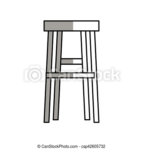 Isolated chair design. Chair icon. seat furniture interior home and ...