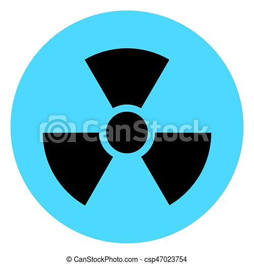 Isolated Chemical Symbol On A Blue Button Vector Illustration