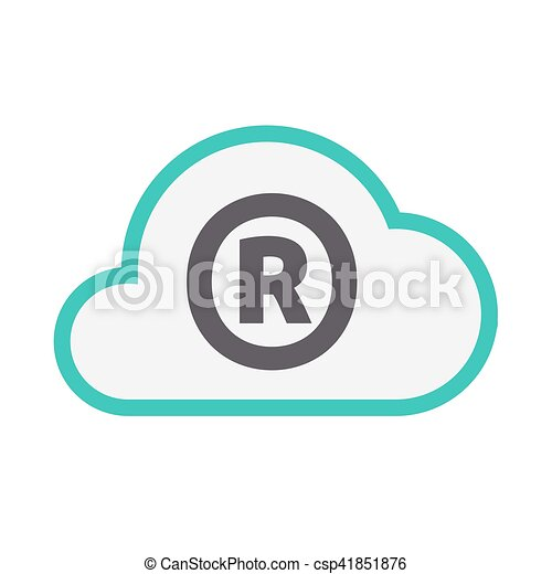 Isolated Cloud Icon With The Registered Trademark Symbol Vectors