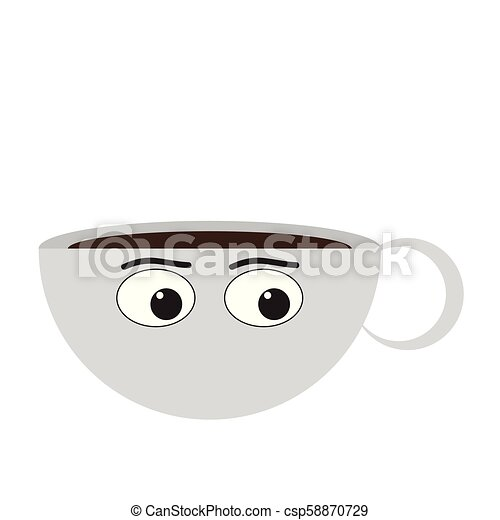 Isolated coffee cup emote - csp58870729
