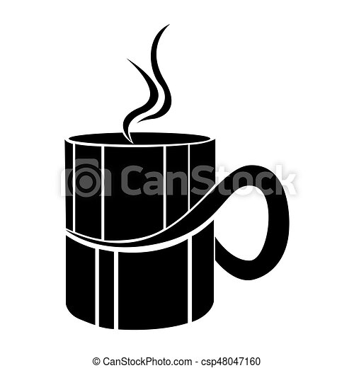 Digitally generated Thank you with coffee cup vector
