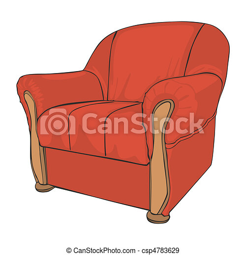 isolated colored armchair - csp4783629