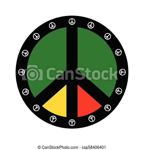Isolated Colored Peace Symbol Vector Illustration Design