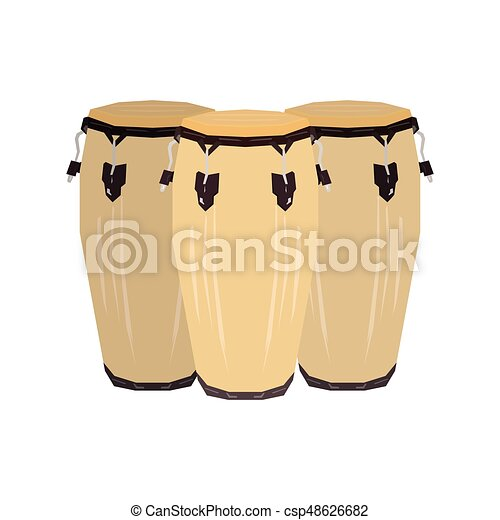 Isolated Conga Drum Vector