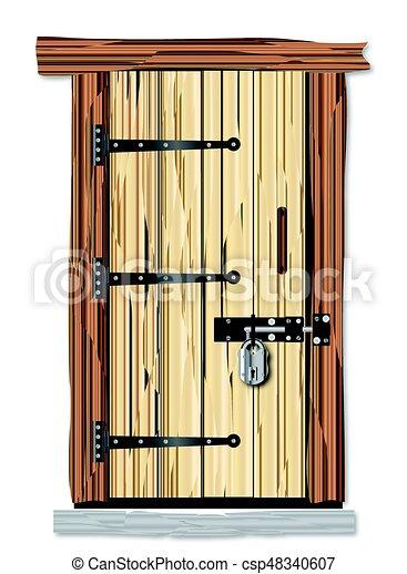 Genial Isolated Cottage Door   Csp48340607