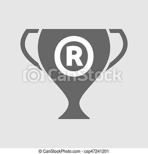 Isolated Cup With The Registered Trademark Symbol Vector Clipart
