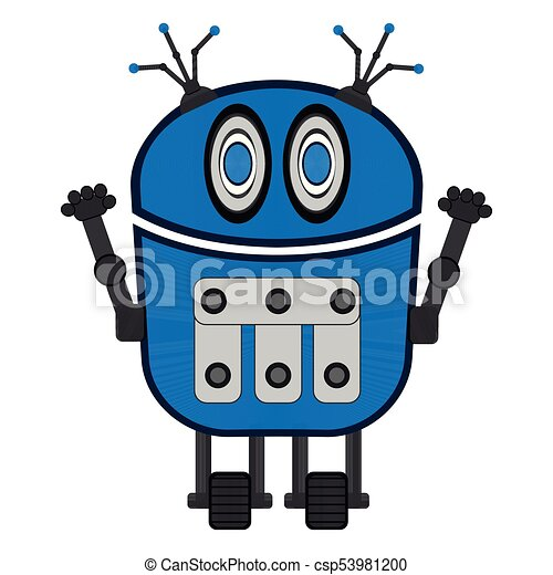 isolated cute robot cute robot on a white background vector rh canstockphoto com robot vector paths robo vector