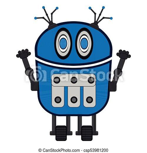 isolated cute robot cute robot on a white background vector rh canstockphoto com robot vector southampton robot vector art
