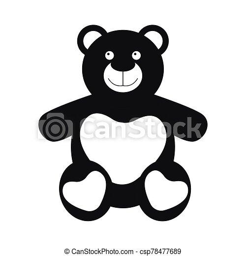 Isolated cute teddy bear - csp78477689