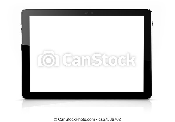 Isolated digital pad on white - csp7586702