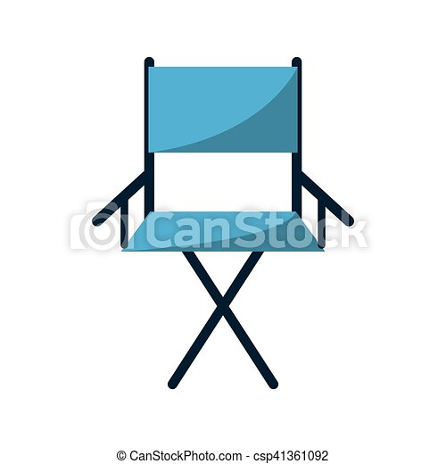 Isolated directors chair design. Cinema directors chair... eps ...