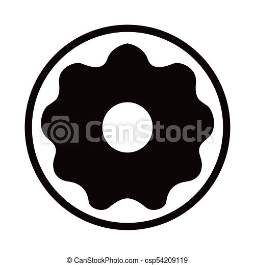 isolated donut icon fast food vector illustration design vector rh canstockphoto com free donut clipart black and white free donut clipart black and white