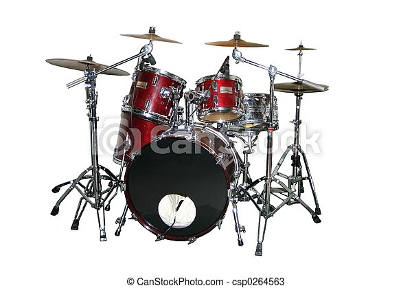 Isolated drum set - csp0264563