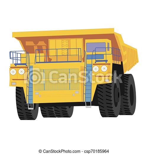 Isolated dumper truck - csp70185964