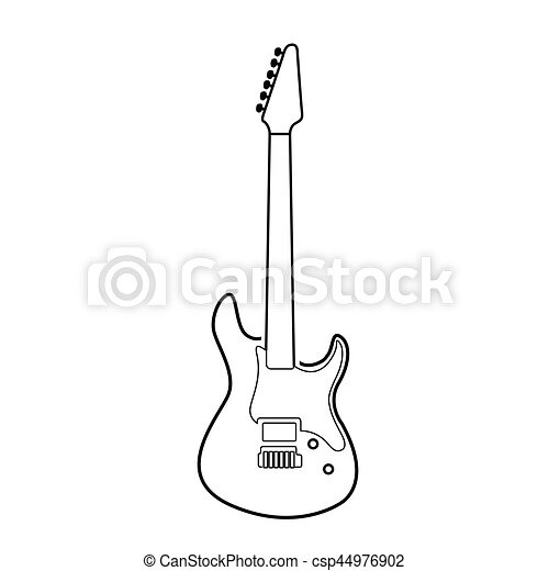 isolated electric guitar outline isolated outline of an