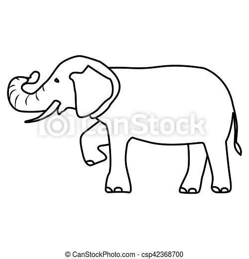 Isolated Elephant Draw Icon Vector Illustration Graphic Design