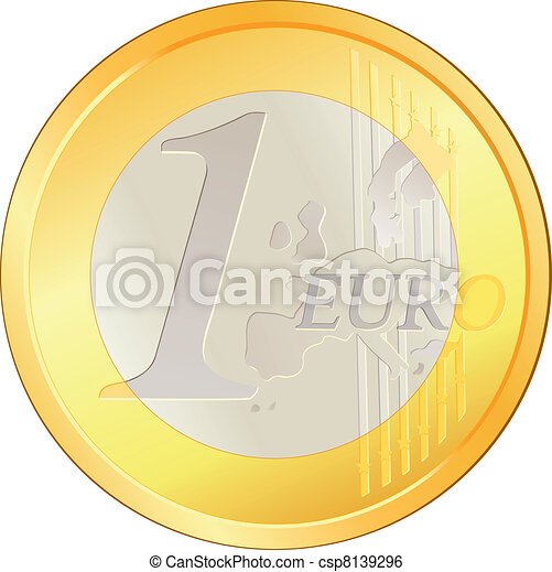 Isolated excellent Euro coin - csp8139296