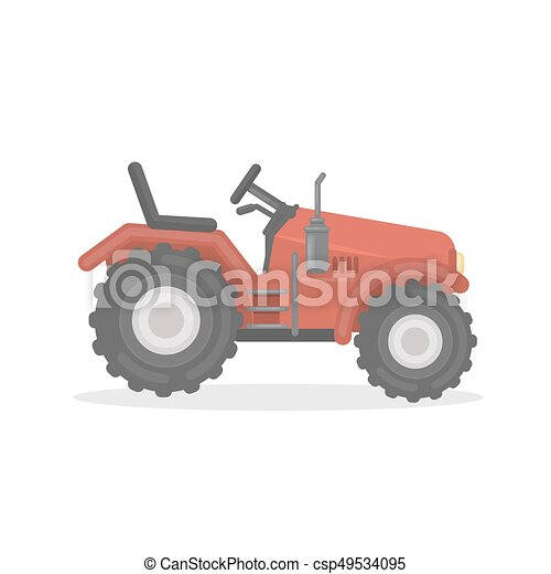 Isolated farm tractor. - csp49534095