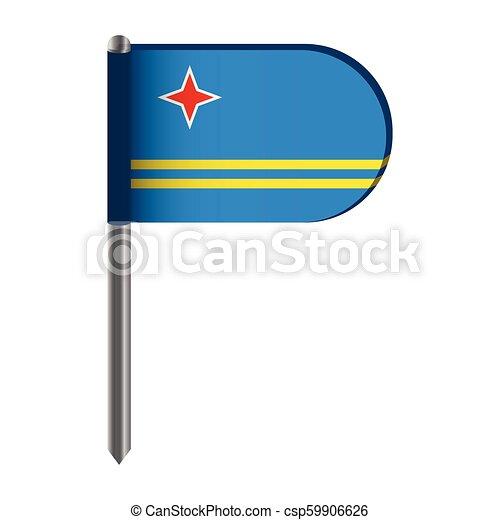 Isolated flag of Aruba - csp59906626