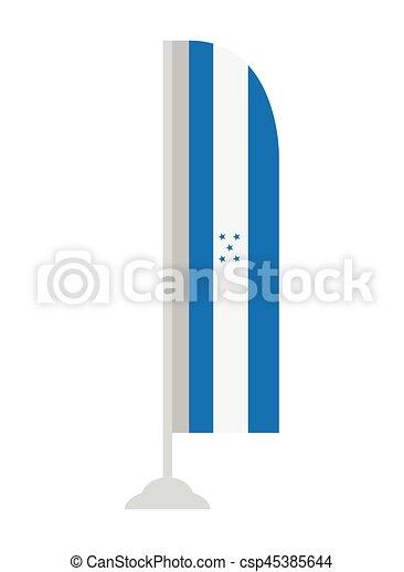 Isolated flag of Honduras - csp45385644
