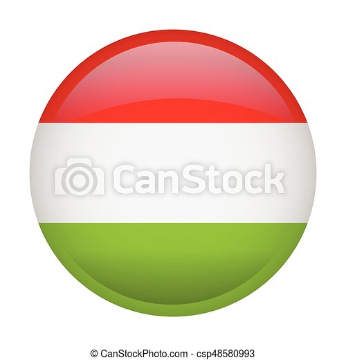 Isolated flag of Hungary - csp48580993