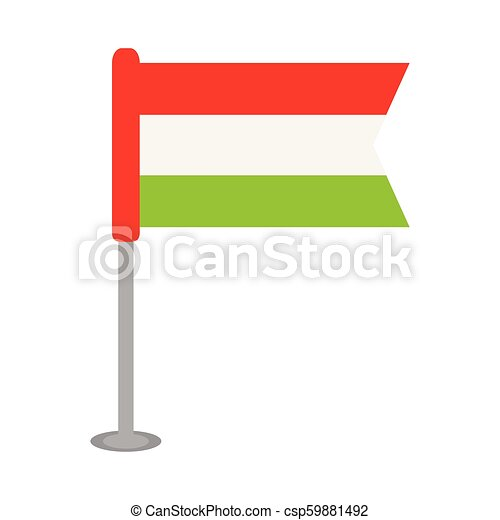 Isolated flag of Hungary - csp59881492