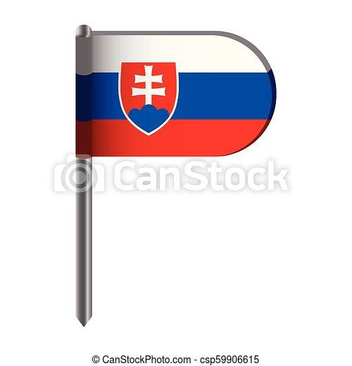 Isolated flag of Slovakia - csp59906615