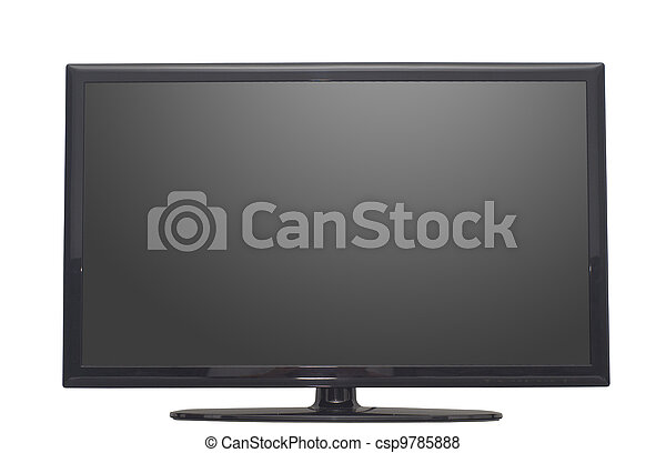 isolated flat screen tv or computer monitor - csp9785888