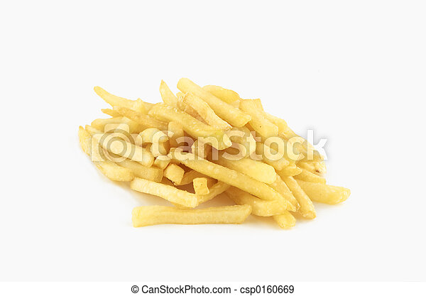 isolated french fries - csp0160669