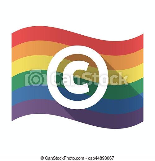 Gay pride clip art graphics