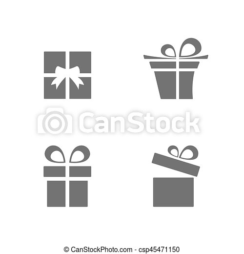 Isolated gifts icons set on white background - csp45471150