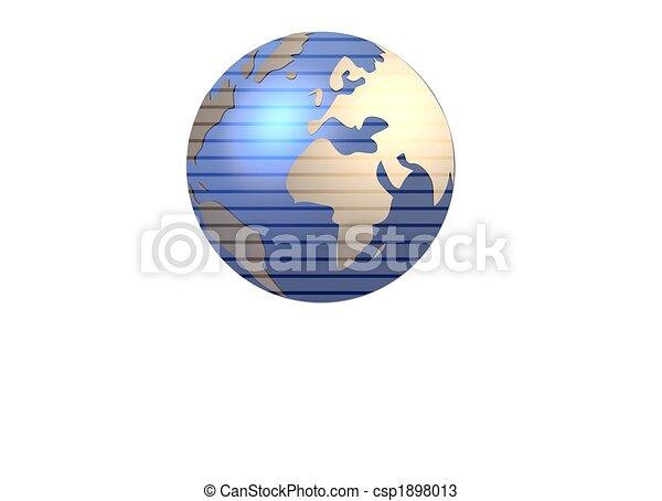 isolated globe - csp1898013